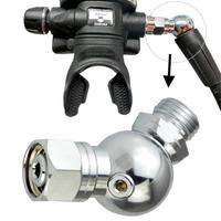 Adjustable Underwater Scuba Diving Explorer Rotatable Breathe Regulator Adapter