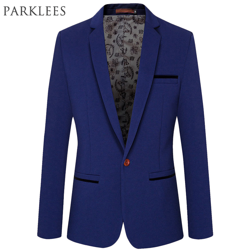 Popular Royal Blue Blazer Men-Buy Cheap Royal Blue Blazer Men lots ...