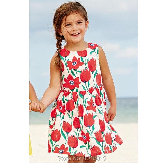 Фирменные 100% Хлопок Новый 2017 Летом Новорожденных Девочек Платье Малышей Детская Одежда Детская Одежда Девушки Случайные Платьице Девочки