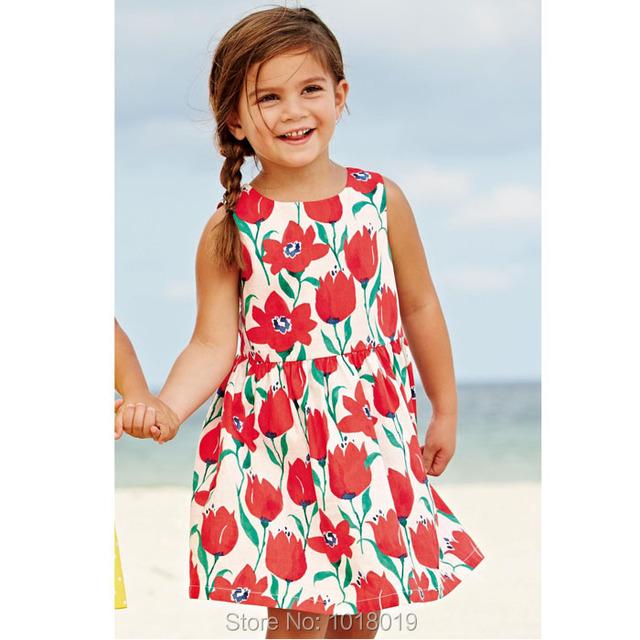 Marca 100% Algodón Nuevo 2017 Verano de los Bebés del Vestido Del Niño Ropa Para Niños Ropa Para Niños Chicas Casual Poco Niñas Vestido de Bebé