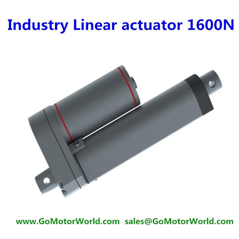 Расширенный Водонепроницаемый IP65 12 В 150 мм 6 inch ход 1600N 160 кг 352LBS нагрузки 6 мм в секунду скорость электроэнергетика линейный привод