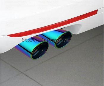 Pour MAZDA CX5 2013 2014 2015 acier inoxydable embout d'échappement queue tuyau silencieux accessoires extérieurs voiture style 2 pièces par ensemble