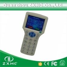 Tiếng anh Ngôn Ngữ Nhà Văn Đọc RFID Máy Photocopy Duplicator 125 Khz 13.56 Mhz 10 Tần Số Với Cáp USB Đối Với IC/ID thẻ Màn Hình LCD