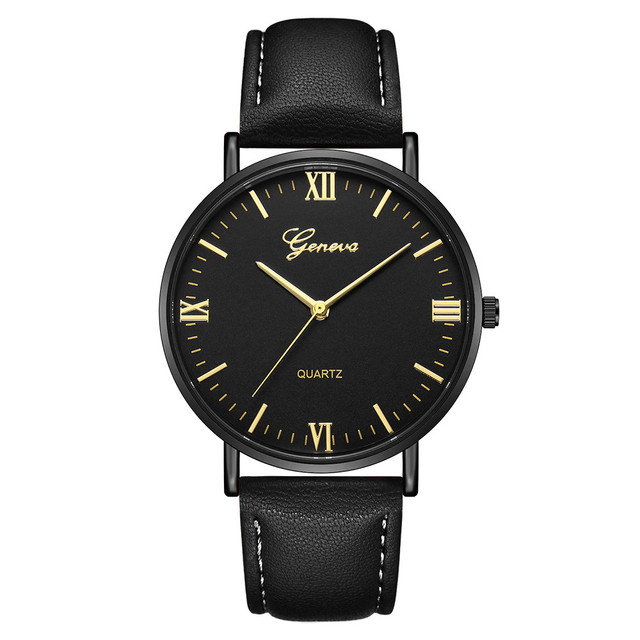 2018 Reloj Fashion Large Dial Military Quartz Men Watch Leather Sport Watches Classic Clock Wristwatch Relogio Masculino &Ff