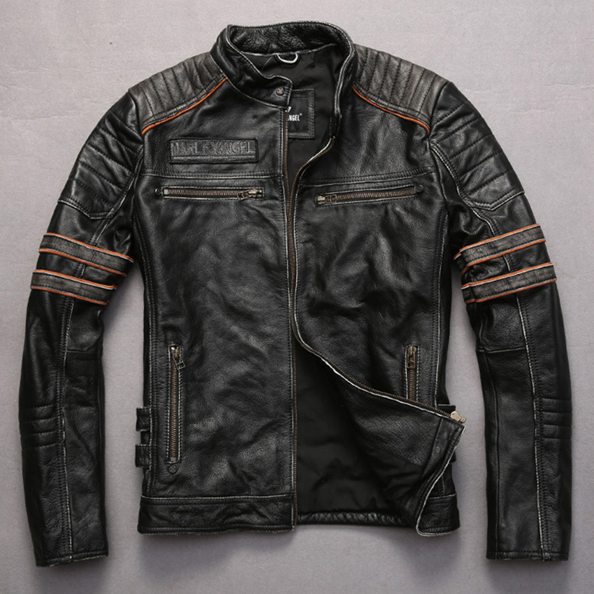 Aliexpress.com : Buy embroidery skulls vintage cowskin motorcycle ...
