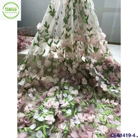 3D Rose Lace Fabrice 5 yards Floral Embroidery Guipure Lace Tissue Stretch Dress Fabric Mesh for Skirt Wedding dress lace