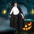 Diablo de halloween costume capa manto de la muerte negro grande hoody blackcloak dios de la muerte de la manera Horrible Fiesta de Halloween Costum