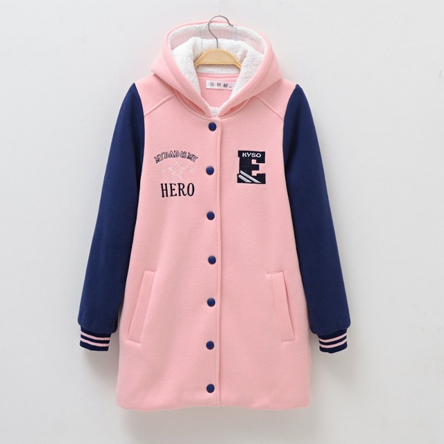 Girls Hoodies Winter Warm Long Jackets for age 8 10 12 14 years Teenage Girl Spring Outerwear