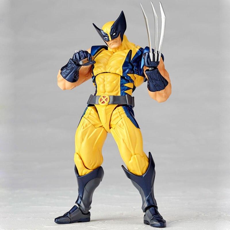 Revoltech Amazing Red Venom Carnage Amazing Captain America Spiderman Magneto Wolverine X-men Action Figures Toy Doll (24)
