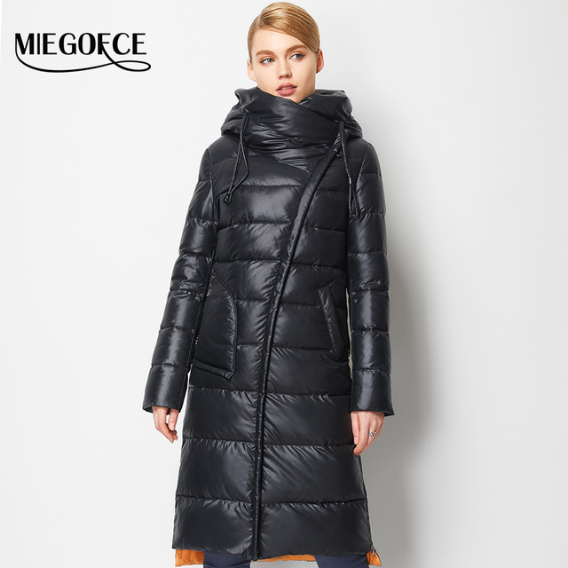 Fashionable Coat Jacket Women's Hooded Warm Parkas Bio Fluff Parka Coat Hight Quality Female MIEGOFCE New Winter Collection Hot  2