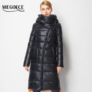 Image 3 - MIEGOFCE 2020 giacca da cappotto alla moda da donna con cappuccio caldo Parka Bio Fluff Parka Coat alta qualità femminile nuova collezione invernale