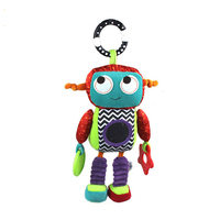 1pc Baby Brand New Activity Toys Robot Style Baby Rattle Music Comforter Toy Baby Rattles Children