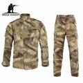 Мужская военная камуфляжная униформа, камуфляжный тактический костюм цвета АТАКС в стиле милитари, универсальная армейская экипировка для...