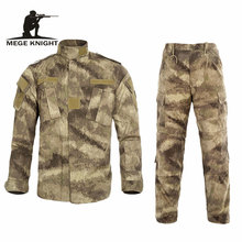 Multicam Black Militaire Uniform Camouflage Pak Tatico Tactische Militaire Camouflage Airsoft Paintball Apparatuur Kleren(China)