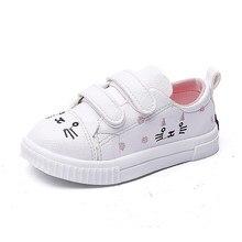 902691761 COZULMA/модные кроссовки для девочек; милые детские статуэтки котов;  спортивная обувь для детей