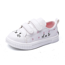 COZULMA Girls Fashion Sneakers Kids Cute Cat Decoration Sports Shoes