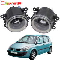 Cawanerl 2 Pieces Car 4000LM LED Bulb Fog Light Angel Eye DRL Daytime Running Lamp 12V For Renault Scenic 2003-2015