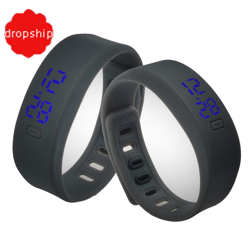 splendid silicone band mens womens rubber led watch date. Black Bedroom Furniture Sets. Home Design Ideas