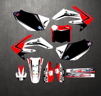 Motorcycle accessories PVC high translucent film Customizable graphics decals stickers full kit for honda CRF250 2004-2009