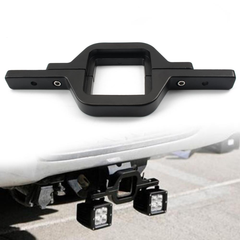Car Offroad Tow Hitch Mount Fog Light Bracket Dual LED Holder Back-up Reverse Search Light