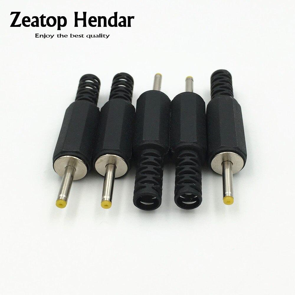 10pcs Male DC Power Jack Plug ID 0.7mm OD 2.5mm