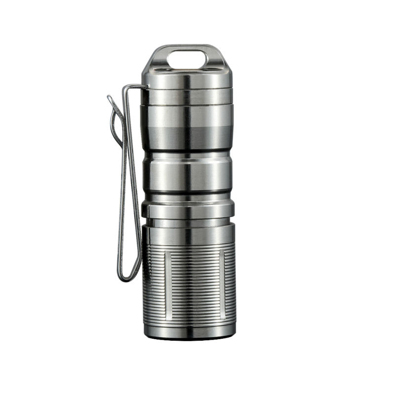 Jetbeam MINI-1 Super Mini Powerful and Rechargable Cree XP-G2 LED Led Flashlight Titanium Keychain 10180 Battery