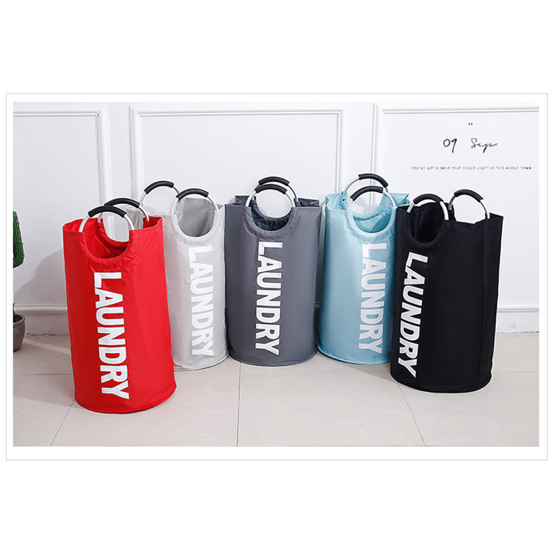 Dirty Clothes Toys laundry storage collapsible hamper Dust prevention laundry bag collapsible with Aluminium handle waterproof