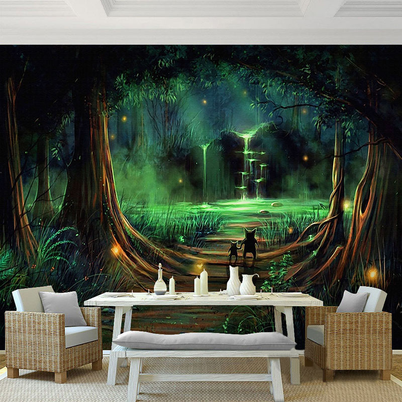 Online get cheap fairy forest alibaba group for Fairy forest mural
