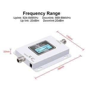 Image 3 - CDMA משחזר 850 MHz 70dB LCD 2G 3G 4G 850 mhz UMTS GSM CDMA טלפון נייד אות משחזר בוסטרים + אנטנה פנימית/חיצונית