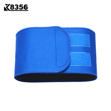 K8356 Breathable Nylon Waist Support Running Fitness Sports Safety Sweat Absorption Lumbar Support Belt Protective Gear Blue