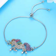 Adjustable Crystal Unicorn Bracelet