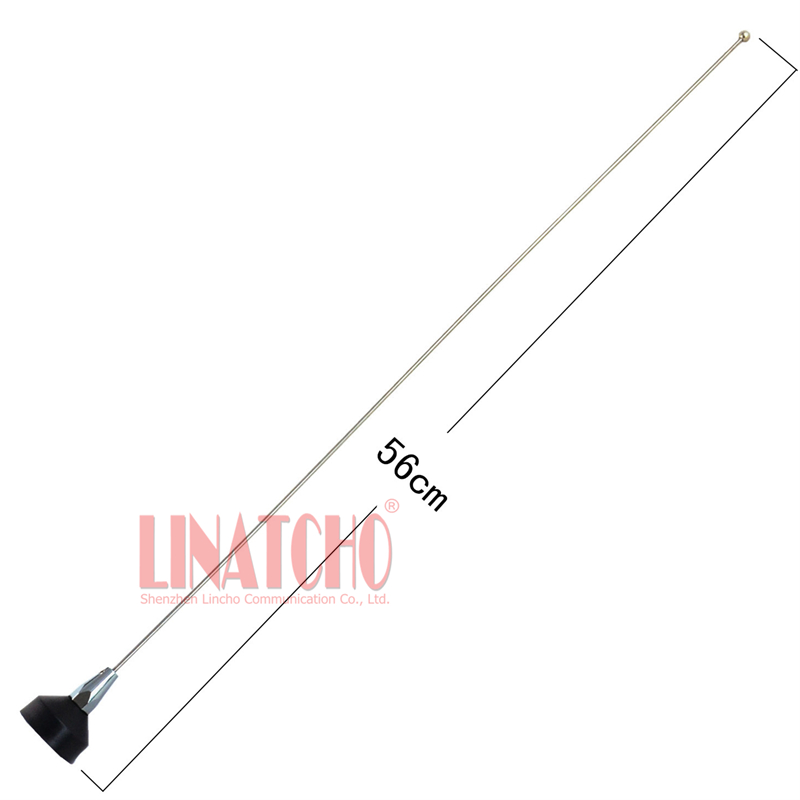VHF Frequency 136-174MHz Stainless Steel Whip Car Radio Nmo Antenna, Nmo Male Antenna