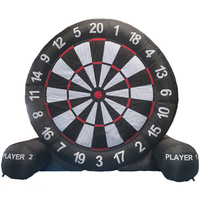 3Meter Huge High Inflatable Dart Board Soccer Game Inflatable Football Dart Board With 220V Air Blower Outdoor Sports Toys New