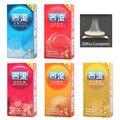 50 Unids/lote Venta Caliente Productos Del Sexo de Calidad 5 Caja De Natural Condones de Látex Para Hombres Adultos Mejores Juguetes Sexuales Más Seguras la anticoncepción