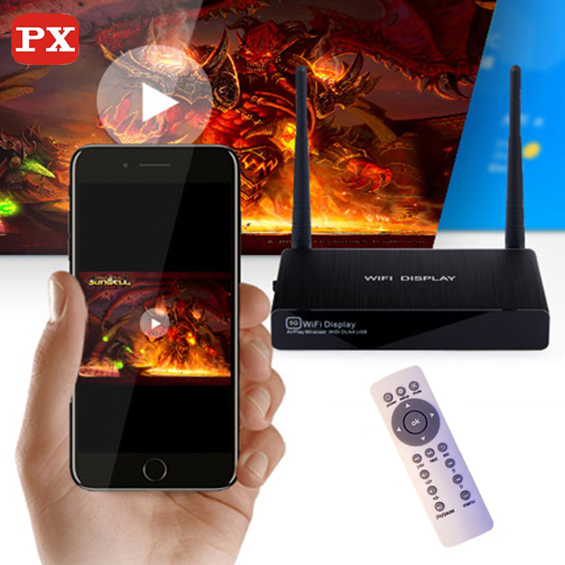 PX smart miracast dongle wireless hdmi tv stick adapter wifi display screen mirroring cast android dlna IOS airplay vga+av Jack  цена