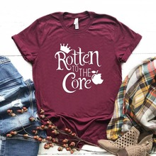 rotten to the core evil queen Print Women tshirt Cotton Casual Funny t shirt For Lady Girl