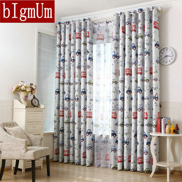 Ready Made Curtains For Kids Childrens Room Bed Blackout Cartoon Boys Prince