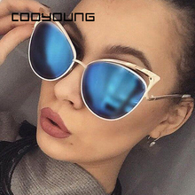 COOYOUNG Ladies Cat Eye Sunglasses Women Sun glasses Alloy Frame UV400 Protectio
