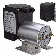 цена на 1pc Electric Mini Vacuum Air Pump High Pressure Suction Diaphragm Pumps 5L/min 80kpa DC 12V with Holder for Chemical Industry