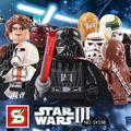 Niños juguetes compatible con lego star wars mini bloques de bloques de construcción 8 unids/lote Mutilar Darth Vader Anakin Skywalker Stormtrooper