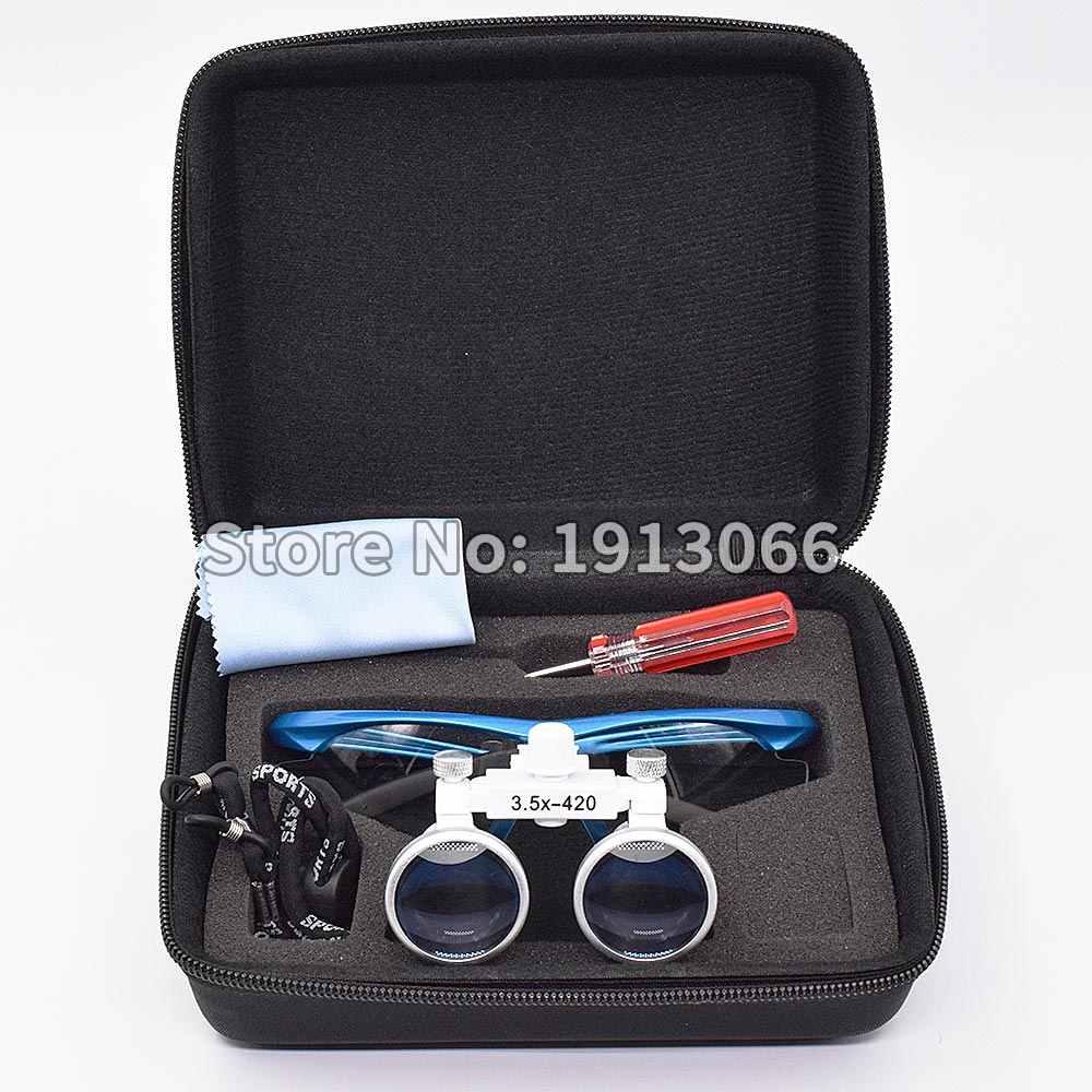 Высокое качество 3,5X420 мм Портативный Стоматологический Хирургический медицинский бинокль стоматологическая лупа оптическая стекло для стоматологических экзамена