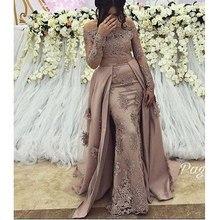 Sexy Plus Size Arabic Muslim Long Sleeve Evening Prom Dresses Gown 2019 Elegant Women Formal  Gala Party Long Dress цена
