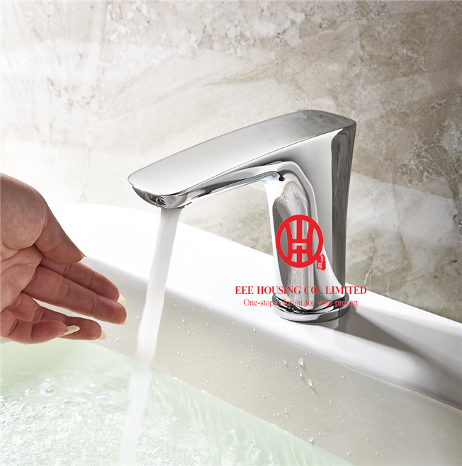 Free Shipping Brass Stereo Induction Intelligent Tap,bathroom Faucet,chrome Finished,bathroom Accessories