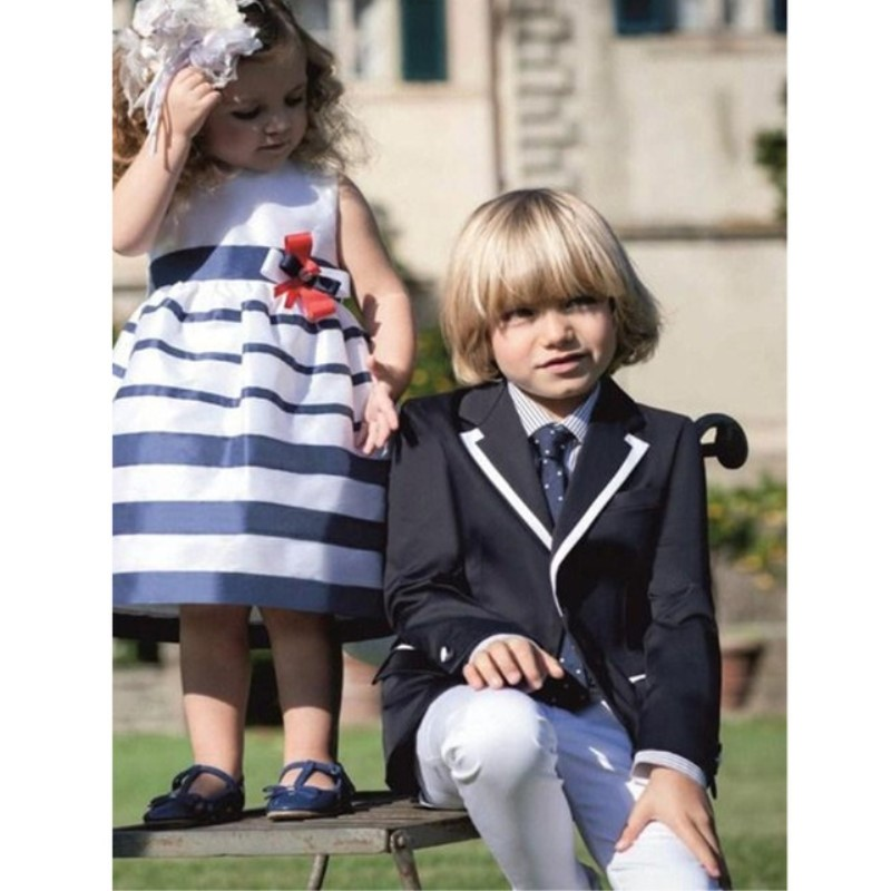 2018 Cute Kids Jacket + Pants Set of 2 Boys Suitable for Wedding Children's Dance Suits for Boys Clothing Children's Formal Sets