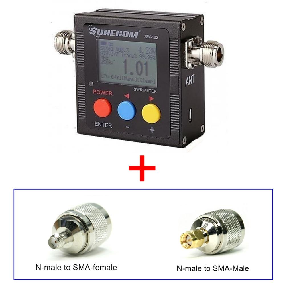 409 boutique produit SURECOM SW-102 SW102 ros frequency counter & power meter LIVRAISON ADAPTATEUR POUR BAOFENG TALKIE WALKIE