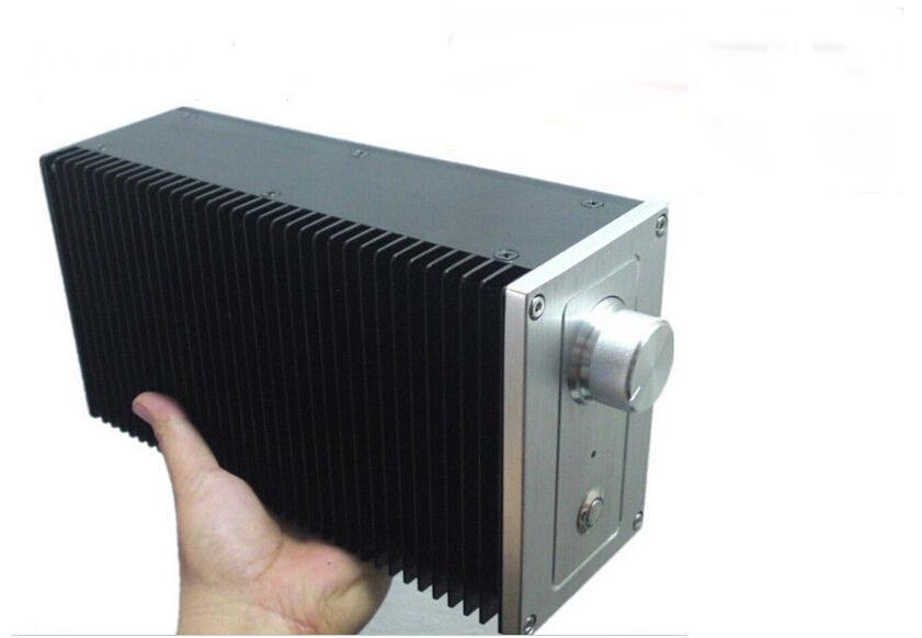 Unilateral Heatsink Aluminum Case DIY Enclosure Vertical Chassis Amplifier Box все цены