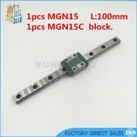 15mm Cnc Linear Guide MGN15C Block Linear Rail MGN15 100mm Linear Motion Rail