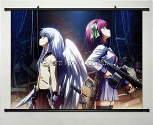 Nette Angel Beats Tachibana Kanade Home Decor Anime Japanischen Poster Wall Scroll