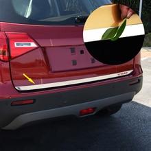 цена на For Suzuki Vitara 2018 2017 2016 2015 Sticker Stainless Steel back door Tailgate cover trim 1pcs Car Accessories