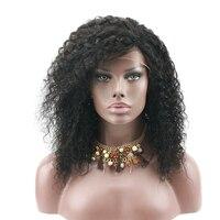 Eseewigs афро кудрявый вьющиеся натуральные волосы синтетические волосы на кружеве Искусственные парики для афро американских бразильских Ре